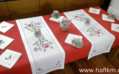 "Beautiful ""Roses"" tablecloth"