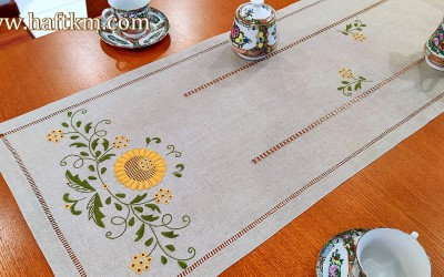 "Hand-embroidered tablecloth "" Jaskra makowska """