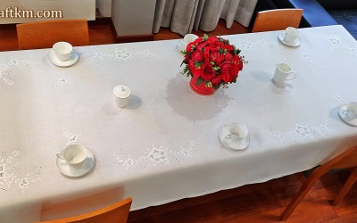 "Exclusive tablecloth ""Róża makowska"""