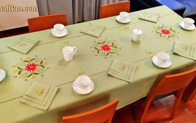 "Christmas tablecloth ""Star of Bethlehem"""
