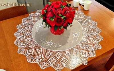 "Traditional tablecloth ""Toledo roses"""