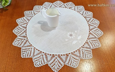 A beautiful napkin with a flower pattern