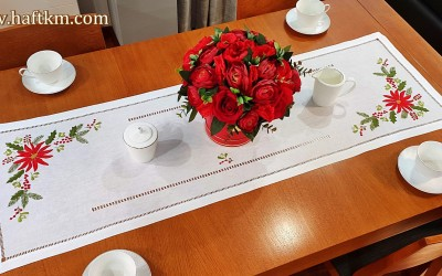 "Exclusive Christmas table runner ""Star of Bethlehem"""